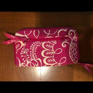 Vera Bradley Zipper closure wallet.